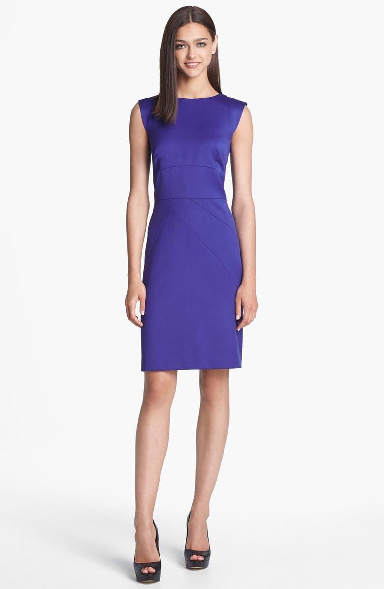 TAHARI Seamed Sheath Dress, Main, color, 401