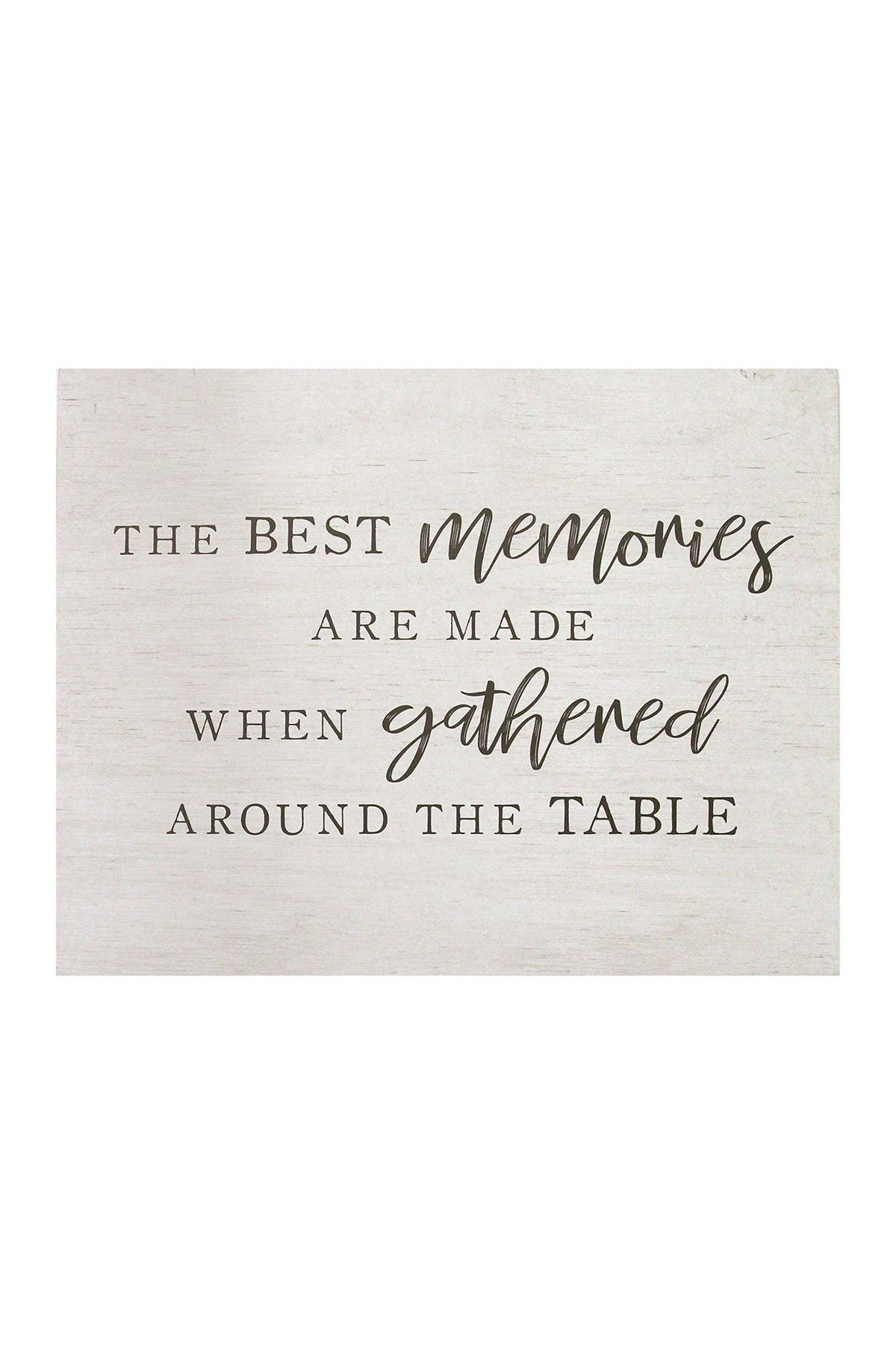 Image of Stratton Home White Best Memories Oversized Wall Art