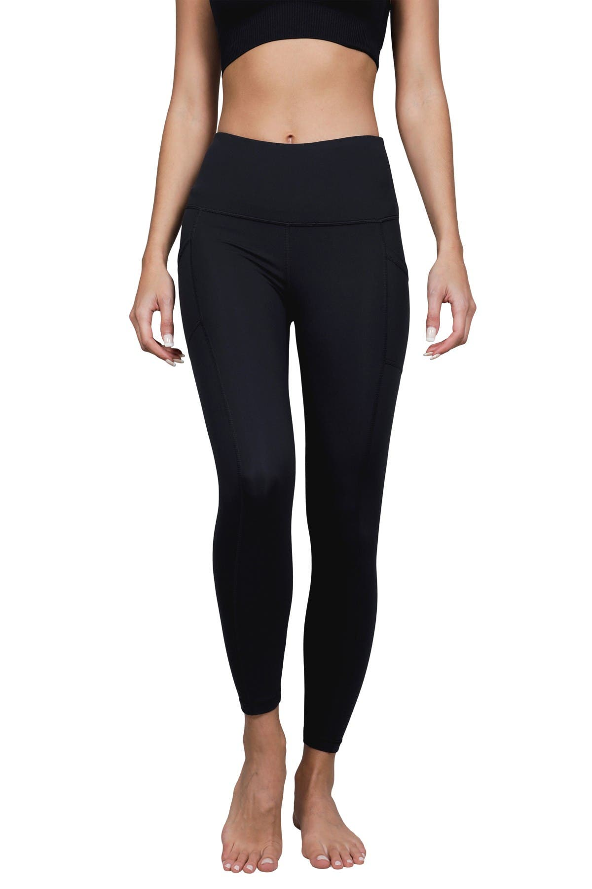 Image of 90 Degree By Reflex Lux High Rise Pocket Ankle Leggings