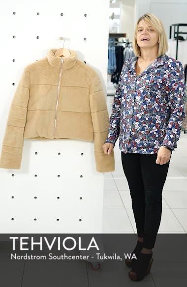 Bridget Faux Fur Puffer Jacket, sales video thumbnail