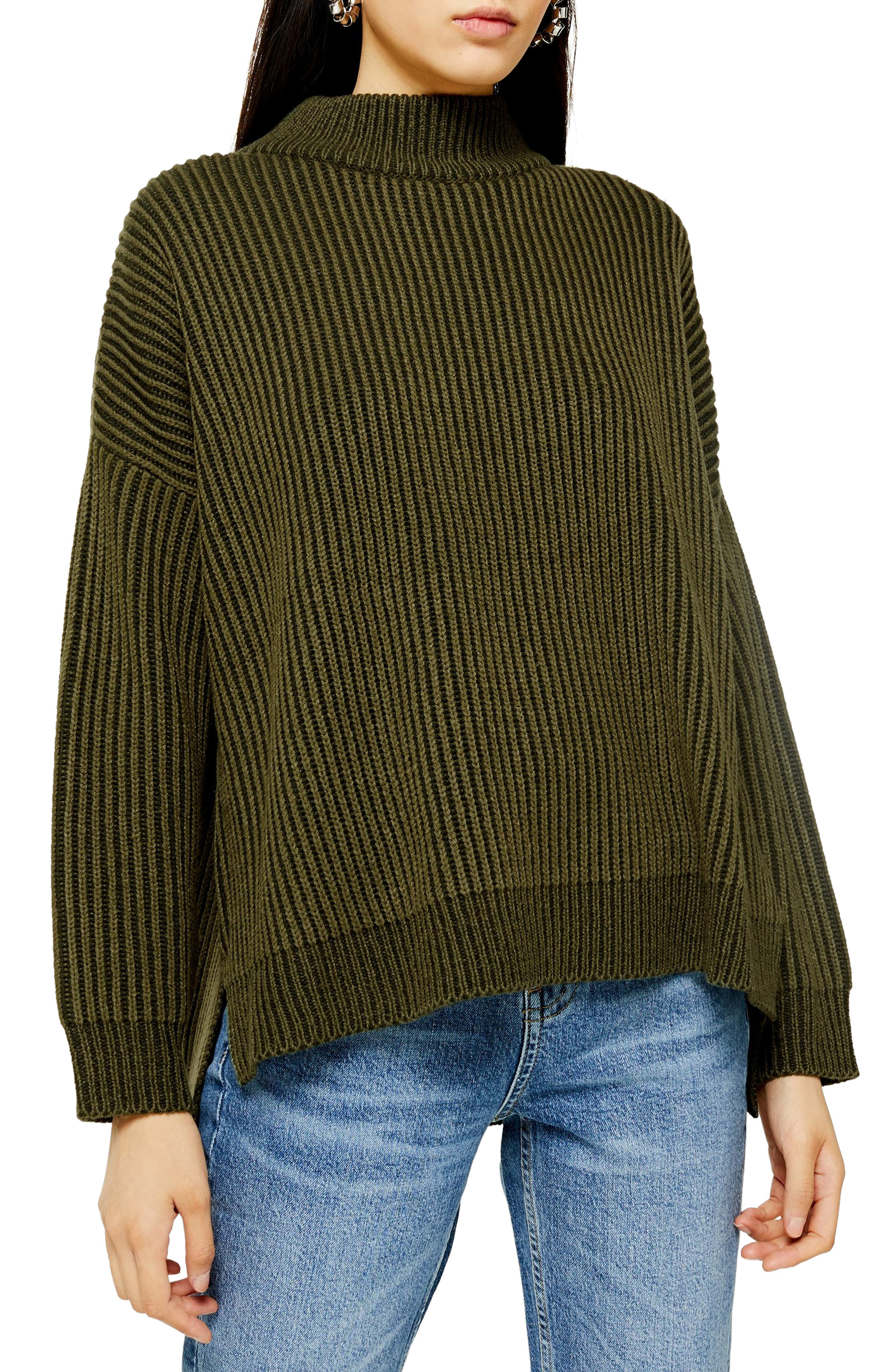 Topshop Mock Neck Sweater (Regular & Petite)