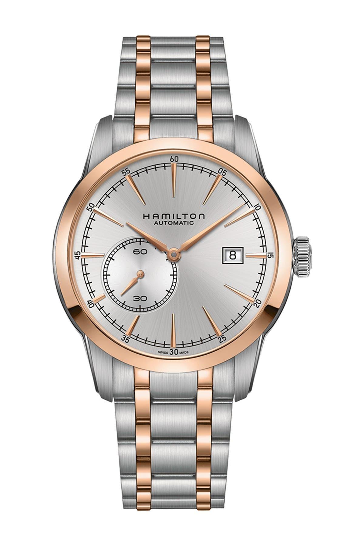 Image of Hamilton Men's Railroad Two-Tone Bracelet Watch, 42mm
