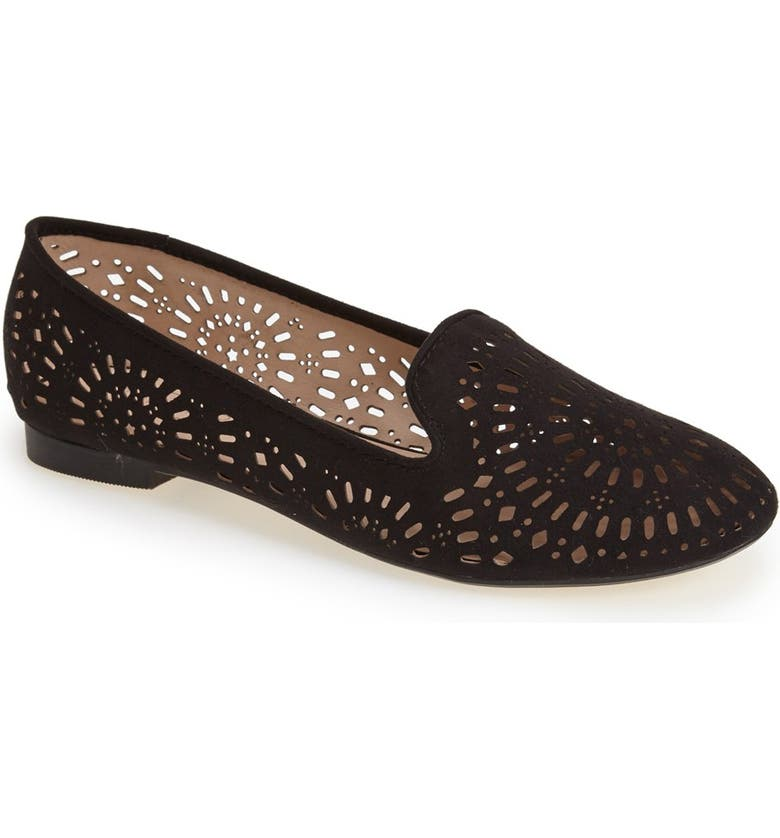 TOPSHOP 'Misty' Perforated Flat, Main, color, 001