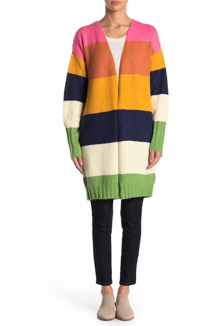 Image of Cliche Colorblock Open Front Cardigan