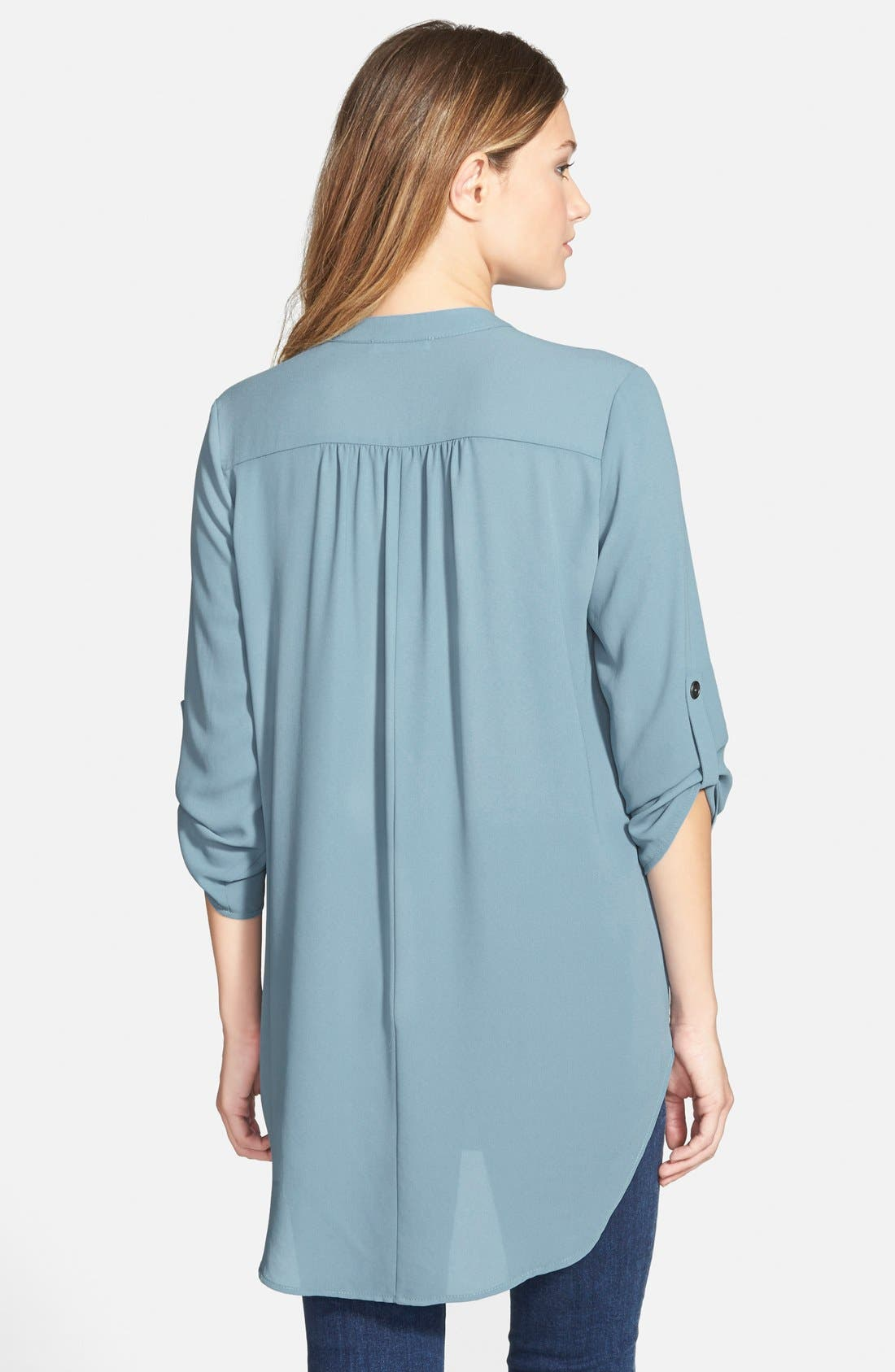,                             Perfect Roll Tab Sleeve Tunic,                             Alternate thumbnail 257, color,                             400