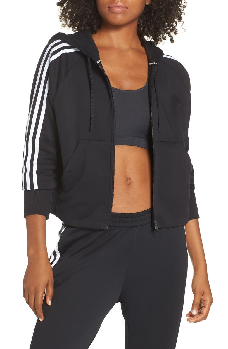 ADIDAS MH 3S Zip Hoodie, Main, color, 001