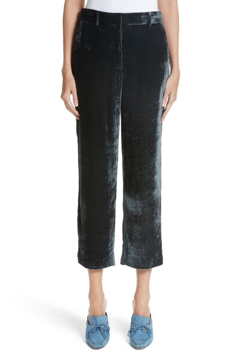 SIES MARJAN Willa Silk & Cotton Corduroy Ankle Pants, Main, color, 020