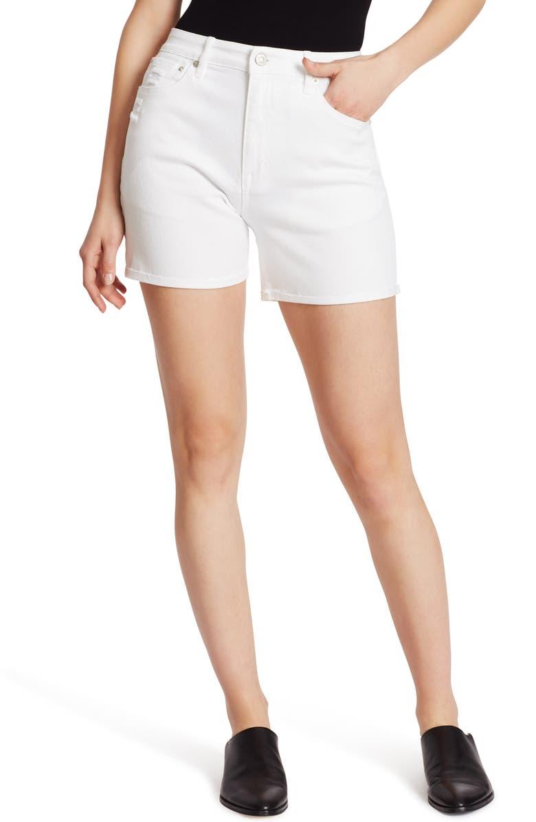 ELLA MOSS Cuff Midi Denim Shorts, Main, color, 100