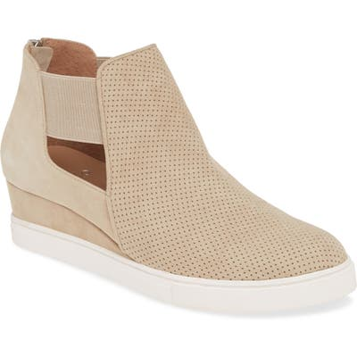 Linea Paolo Amanda Slip-On Wedge Bootie, Beige