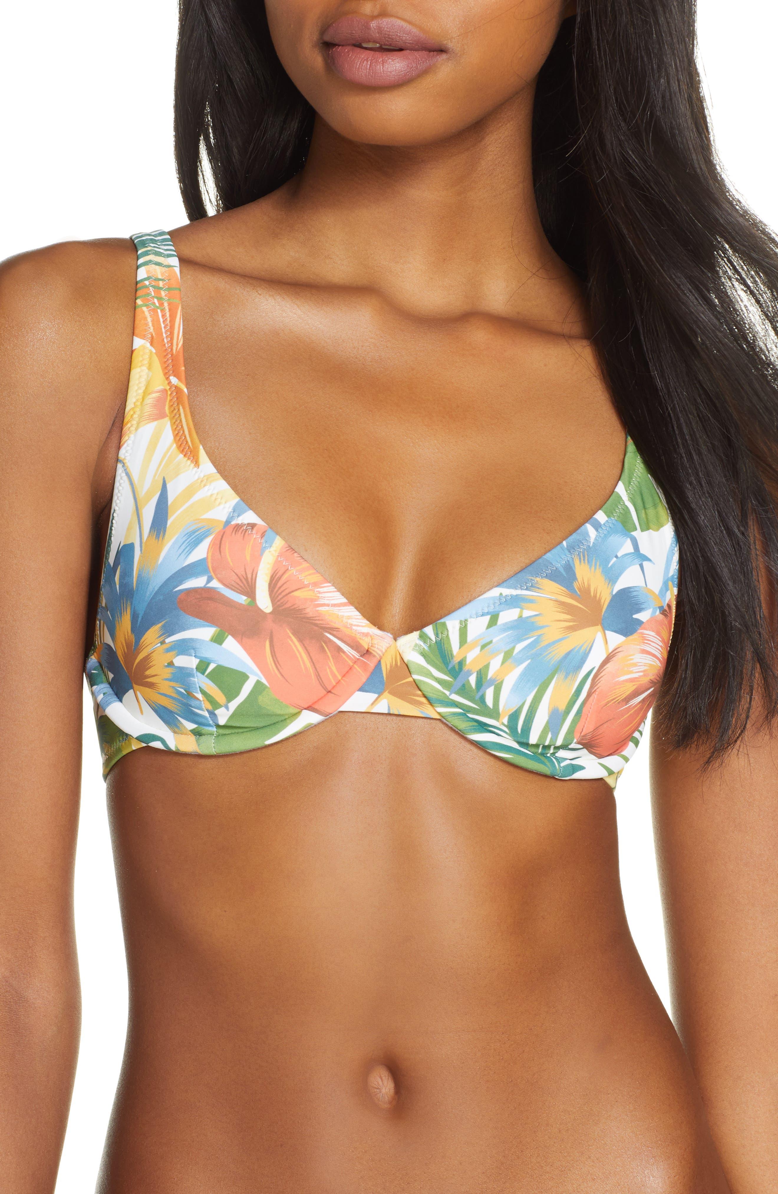 Rhythm Tropicana Underwire Bikini Top, White