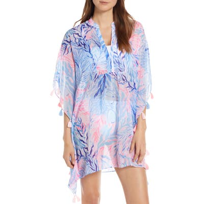 Lilly Pulitzer Arline Cover-Up Caftan, Blue