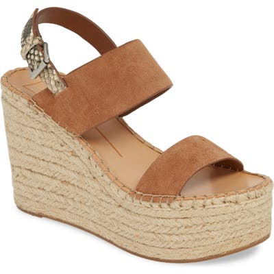 Dolce Vita Spiro Platform Wedge Sandal- Brown