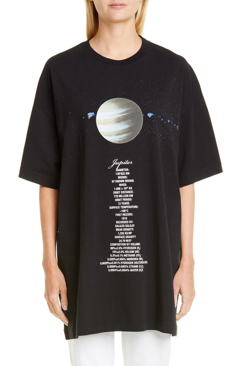 VETEMENTS Planet Number Graphic Oversize Tee, Main, color, JUPITER