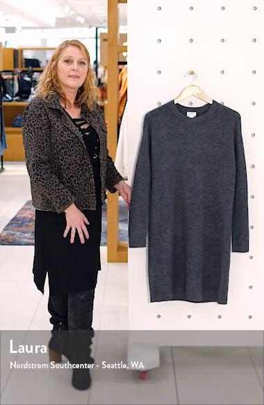 Crewneck Long Sleeve Sweater Dress, sales video thumbnail