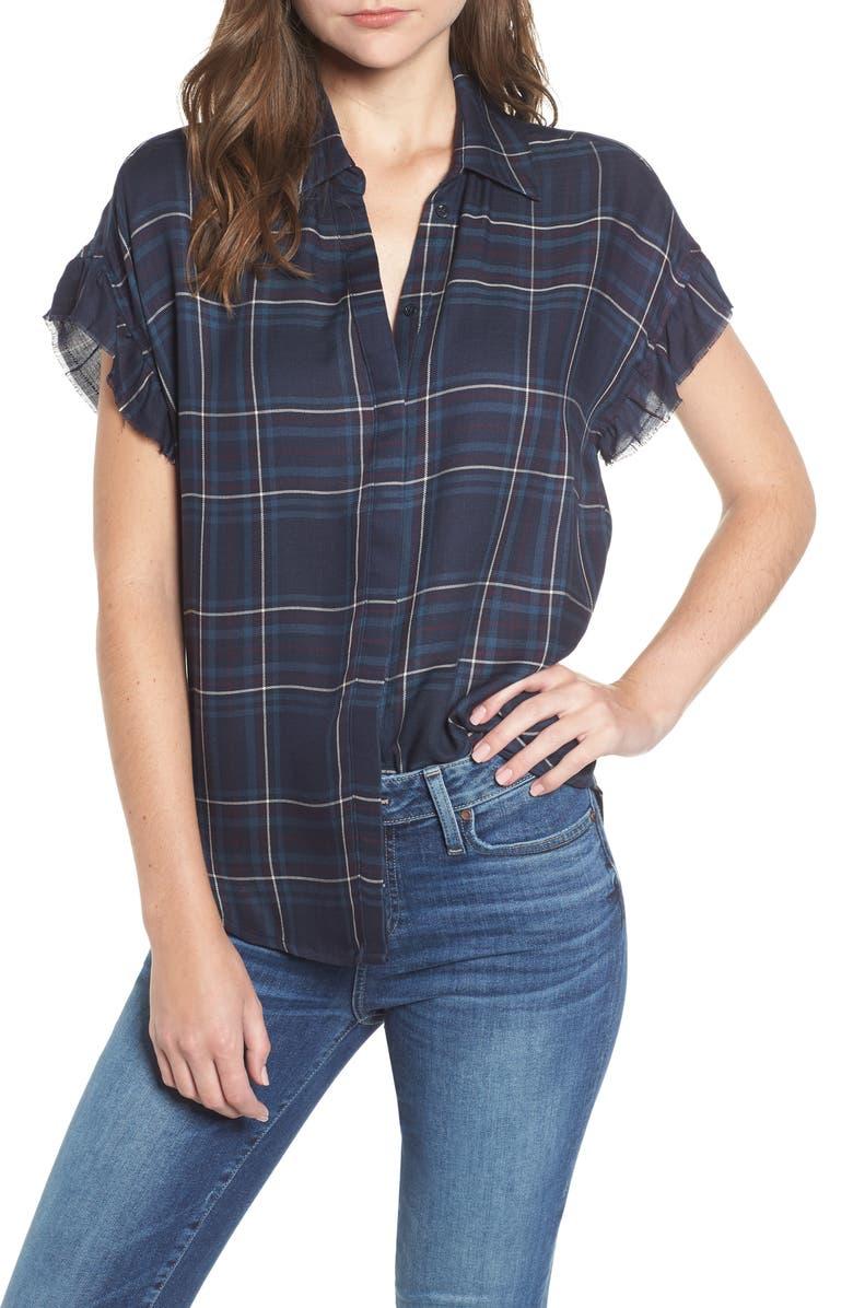PAIGE Jaylin Plaid Shirt, Main, color, 460