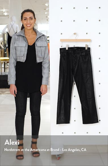 The Callie Coated High Waist Crop Flare Jeans, sales video thumbnail