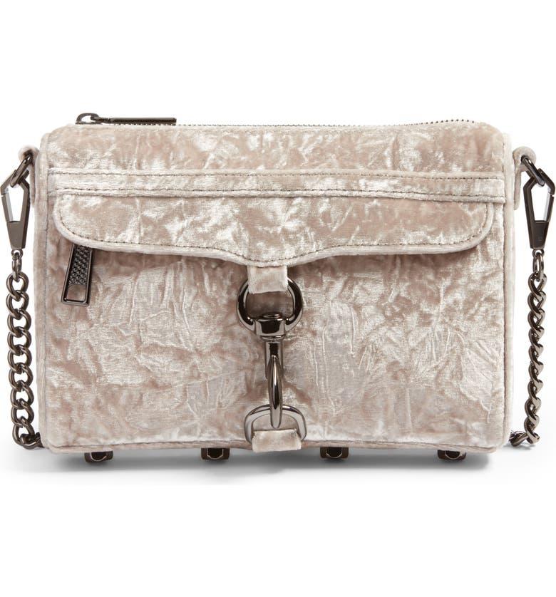 REBECCA MINKOFF Mini MAC Velvet Convertible Crossbody Bag, Main, color, 021