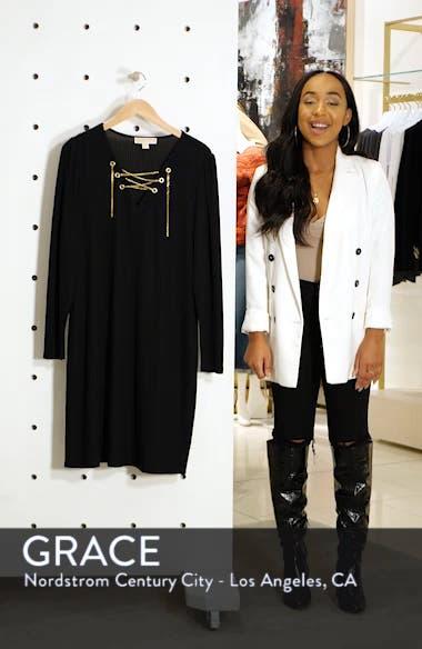 6c30ee60ce2c80 MICHAEL Michael Kors Chain Lace-Up V-Neck Sweater Dress (Plus Size ...