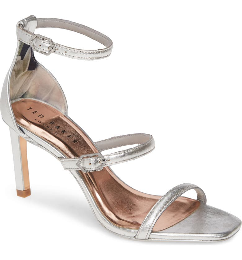 TED BAKER LONDON Triam Sandal, Main, color, SILVER