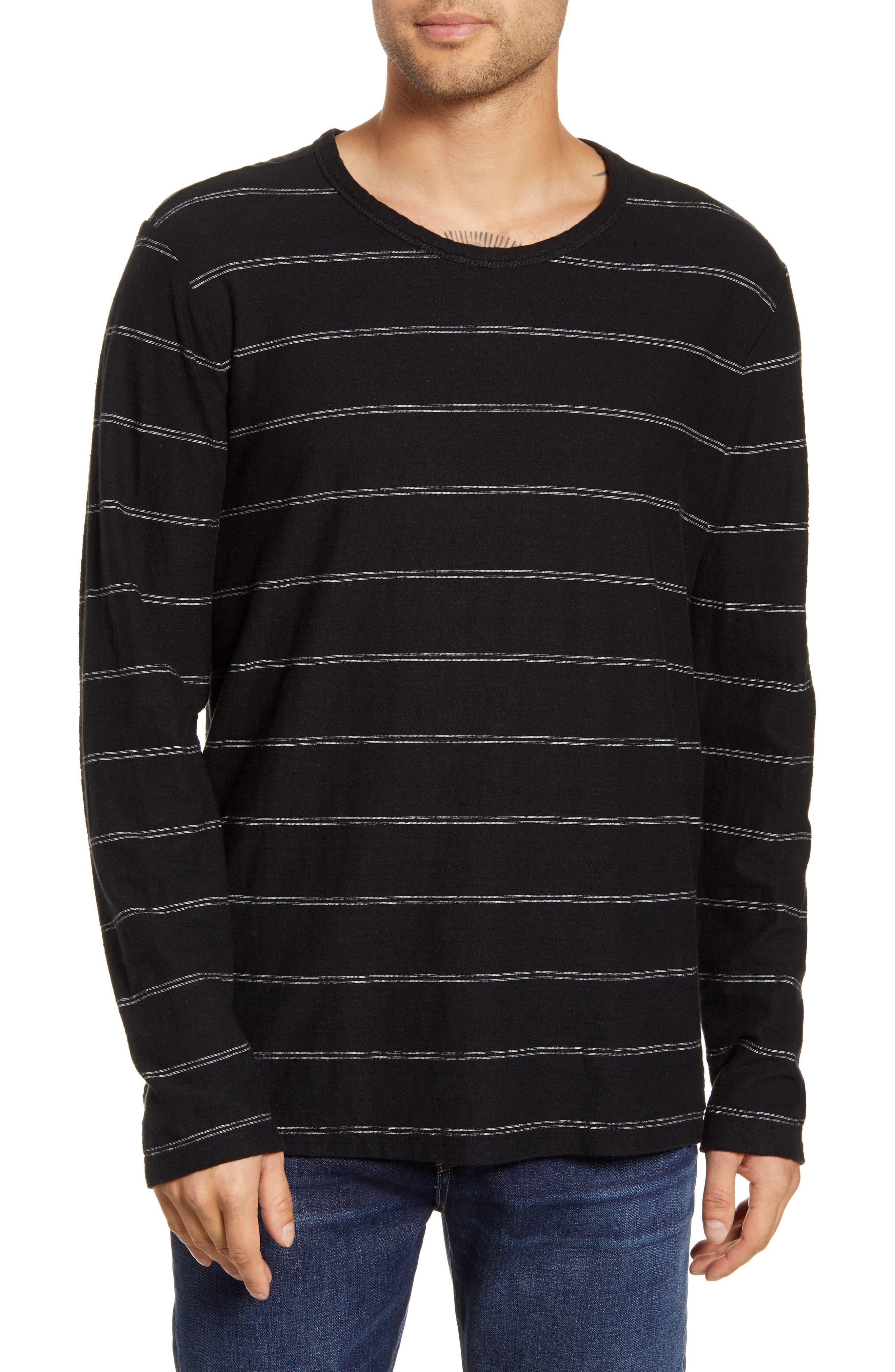 Tilden Stripe Long Sleeve Hemp & Organic Cotton T-Shirt