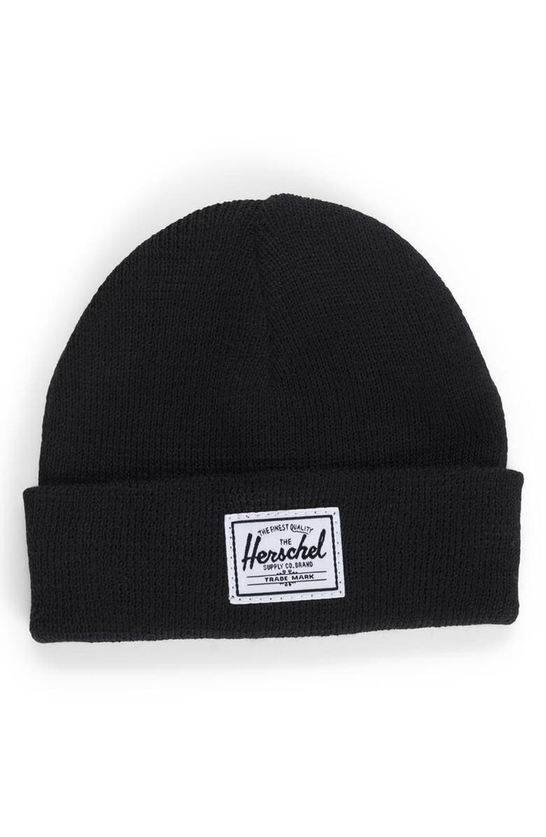HERSCHEL SUPPLY CO. Sprout Knit Beanie, Main, color, 001