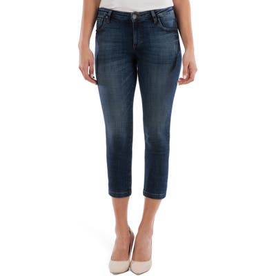 Kut From The Kloth Lauren Crop Straight Leg Jeans, Blue