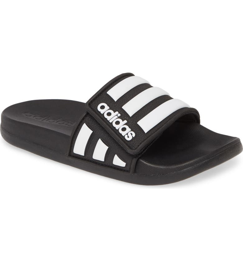 ADIDAS Adilette Comfort Slide Sandal, Main, color, CORE BLACK/ WHITE/ CORE BLACK