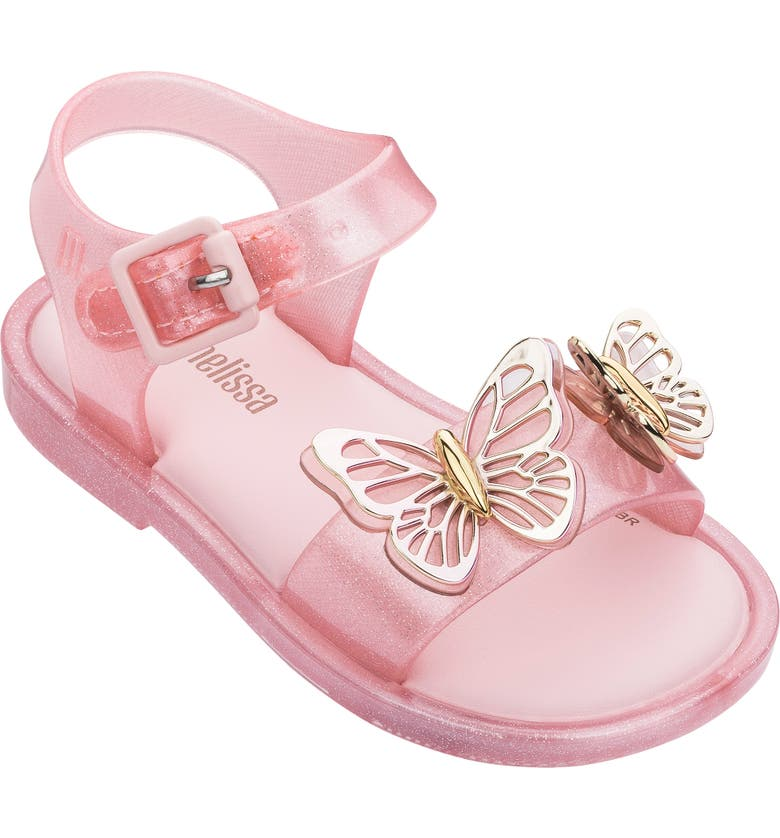 MINI MELISSA Mar Glitter Jelly Sandal, Main, color, BABY PINK