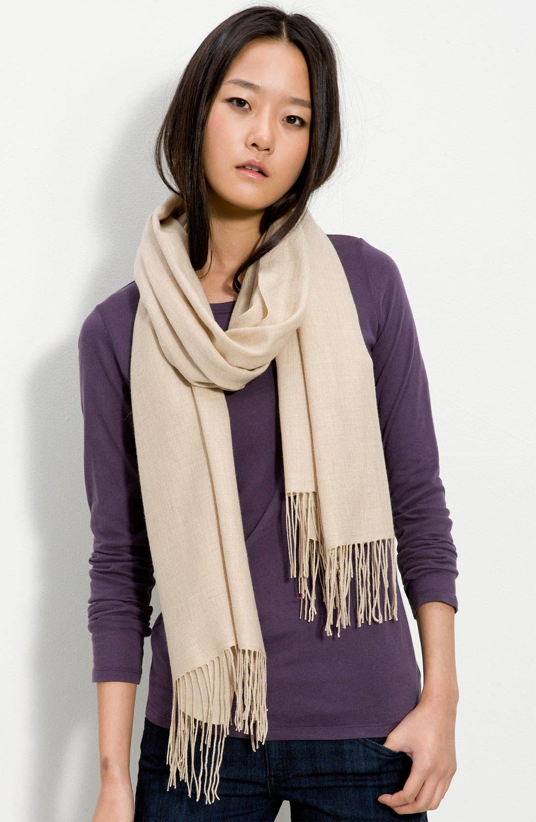 ,                             Tissue Weight Wool & Cashmere Wrap,                             Main thumbnail 38, color,                             252