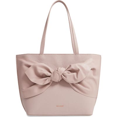 Ted Baker London Diiana Soft Knot Detail Leather Shopper - Pink