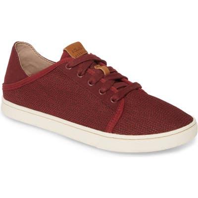 Olukai Pehuea Li Convertible Sneaker, Burgundy