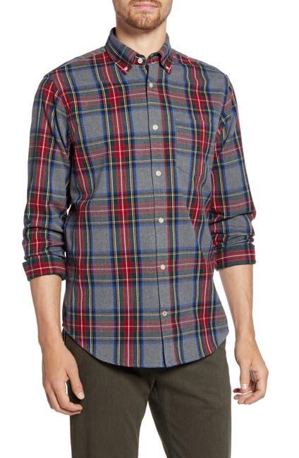 Image of NN07 Levon 5913 Slim Fit Check Button-Down Flannel Shirt