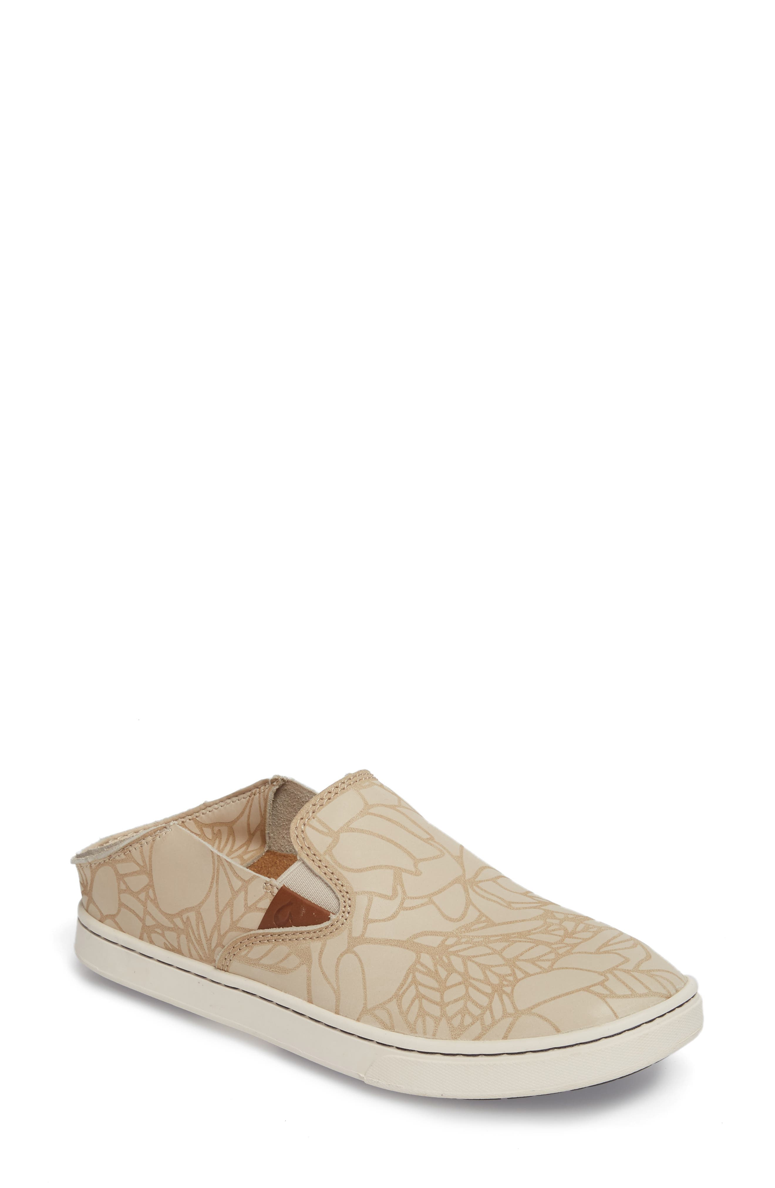 Olukai Pehuea Lau Slip-On Sneaker, Beige