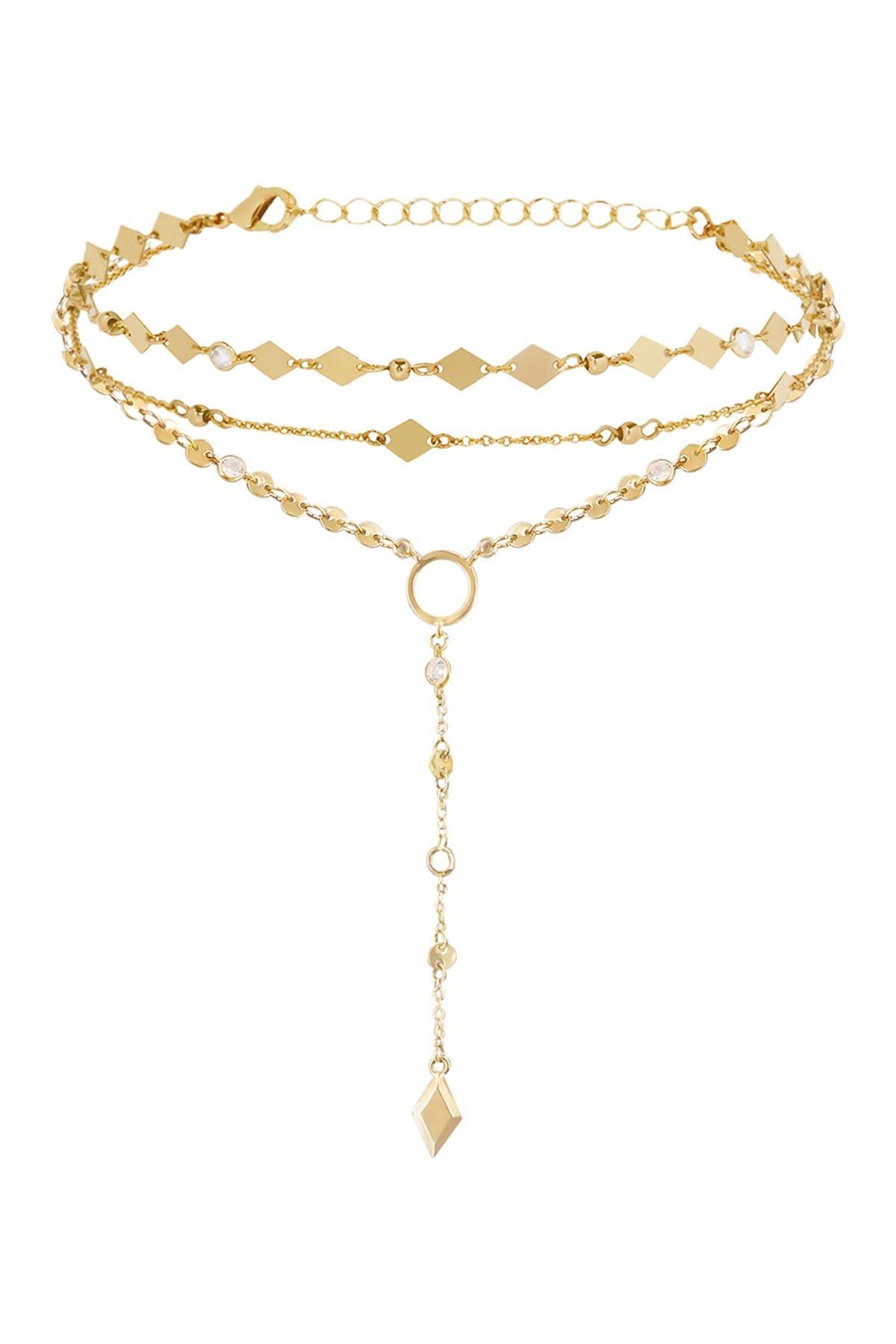 Image of Ettika 18K Gold Plated Diamond in the Desert Choker & Lariat