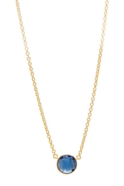 Image of Rivka Friedman 18K Gold Clad Brass Bezel Set Circle Crystal Necklace