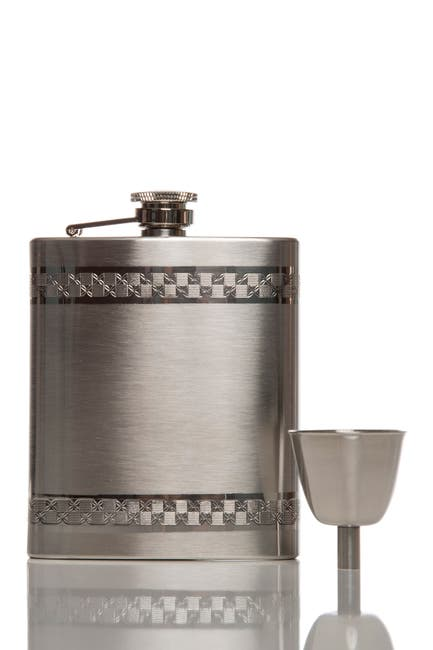 Image of Brouk & Co Silver Anchor 5oz Flask Set