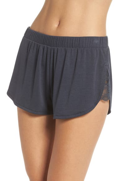 a6910f928738 Honeydew Intimates Lace Trim Ribbed Pajama Shorts | Nordstrom