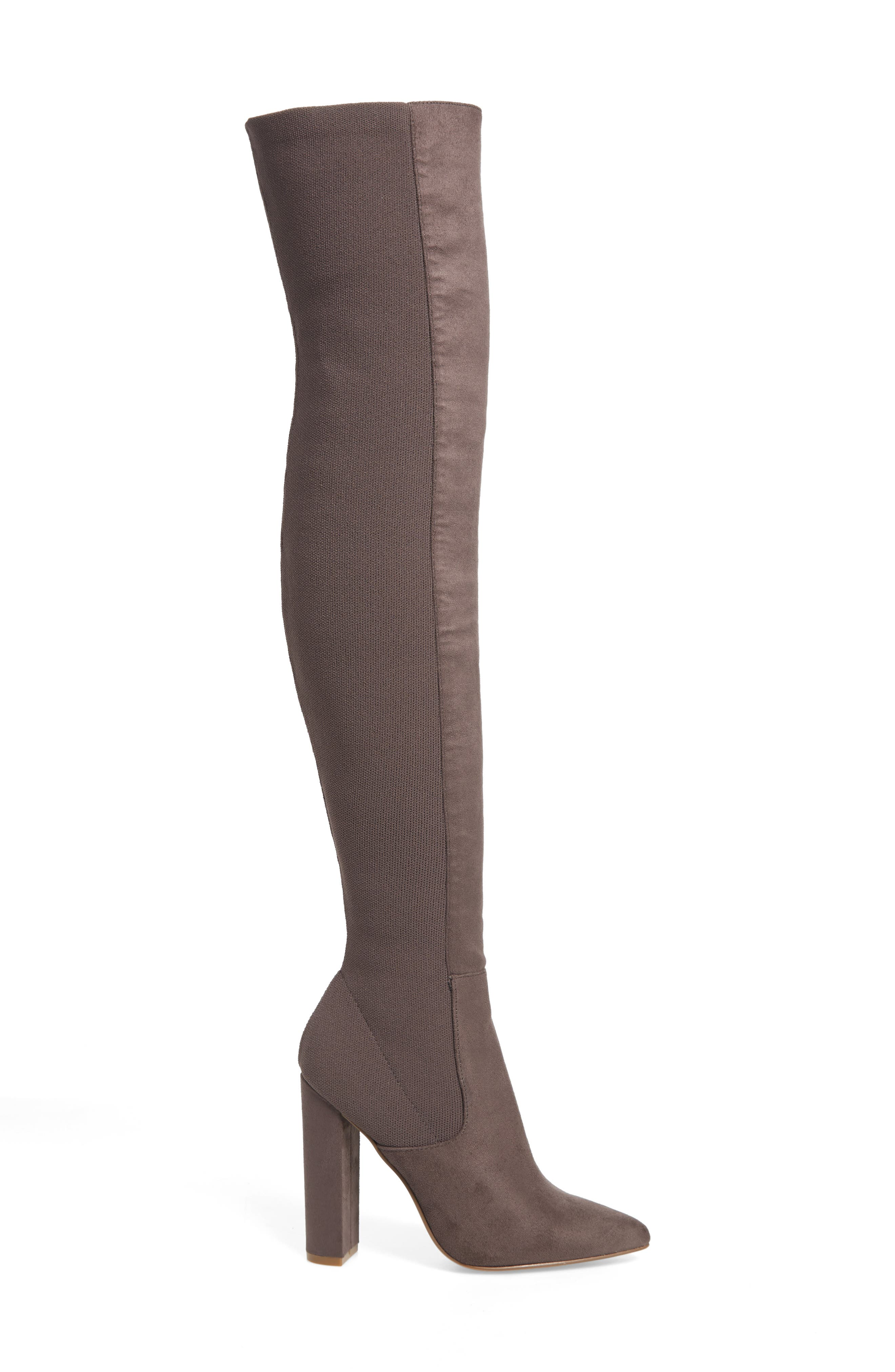 ,                             Essence Over the Knee Stretch Boot,                             Alternate thumbnail 3, color,                             GREY
