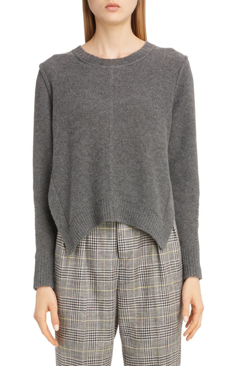 ISABEL MARANT Side Slit Cashmere Sweater, Main, color, GREY
