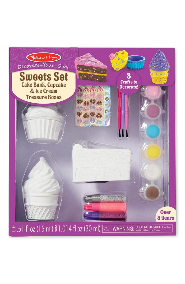 MELISSA & DOUG 'Decorate Your Own - Sweets' Craft Kit, Main, color, 960