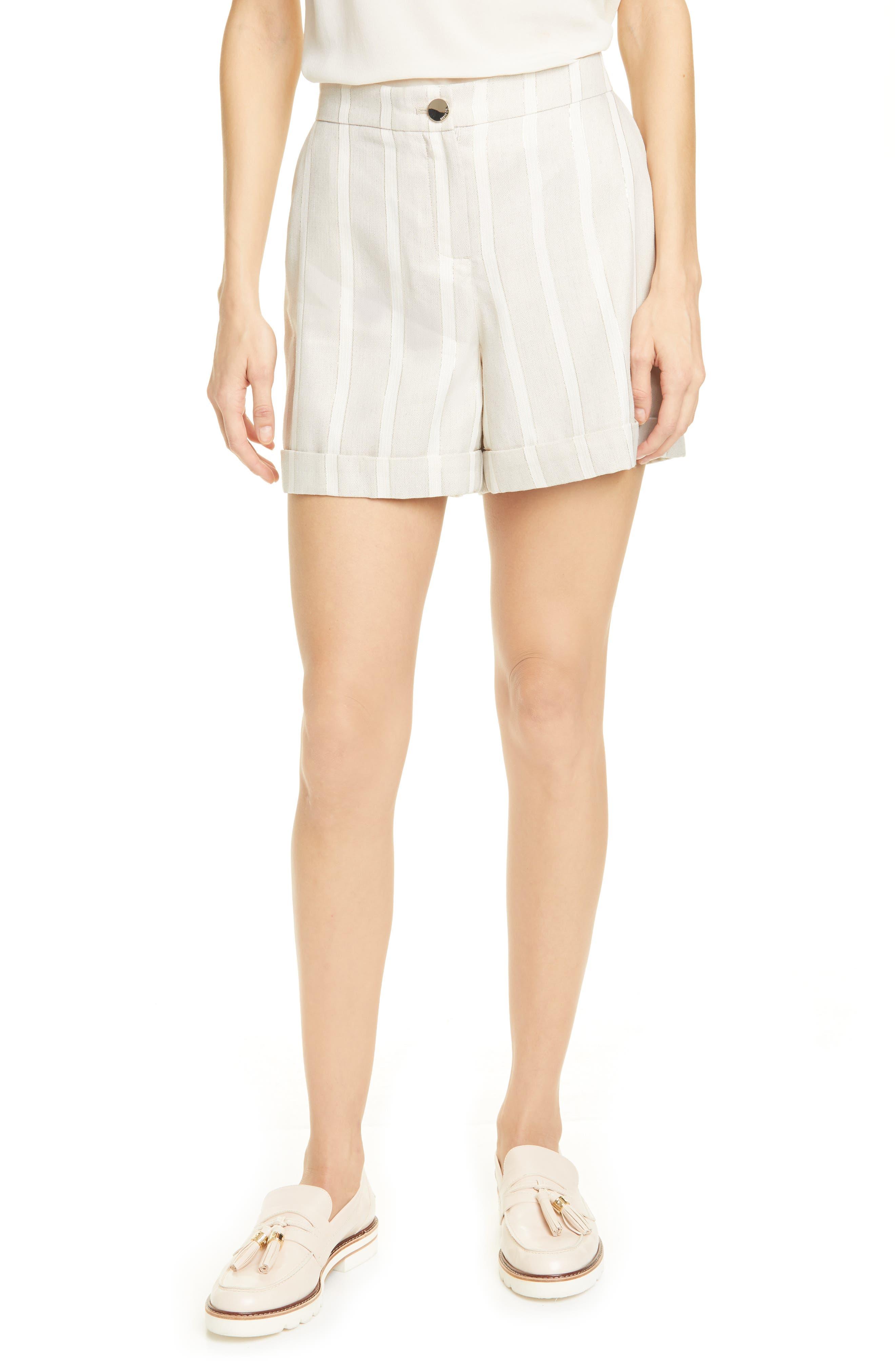 Women's Ted Baker London Samikat Shorts,  1 (fits like 0-2 US) - White
