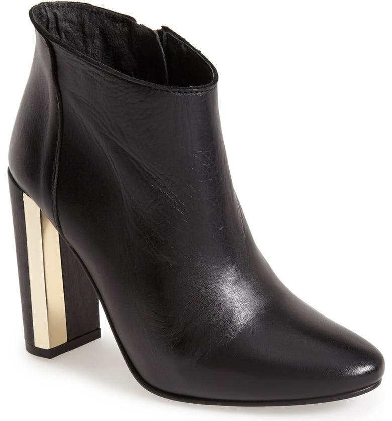 TOPSHOP 'Harp' Metal Heel Boot, Main, color, 001