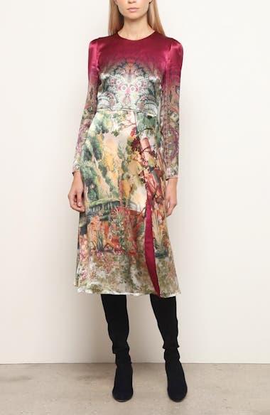Castle Print Long Sleeve Dress, video thumbnail