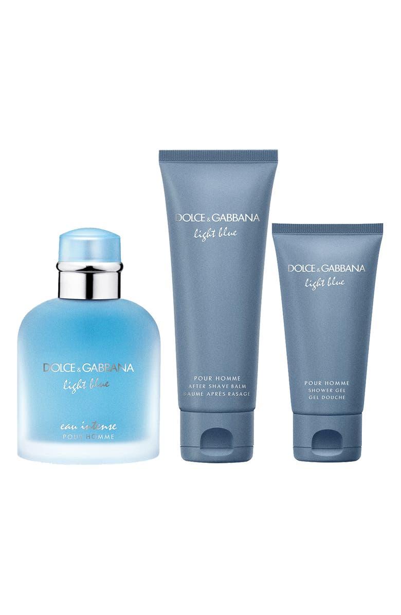 DOLCE&GABBANA BEAUTY Dolce&Gabbana Light Blue Eau Intense Pour Homme Set, Main, color, NO COLOR