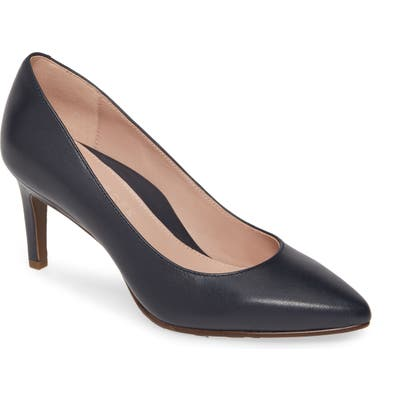 Taryn Rose Collection Gabriela Pointy Toe Pump, Blue