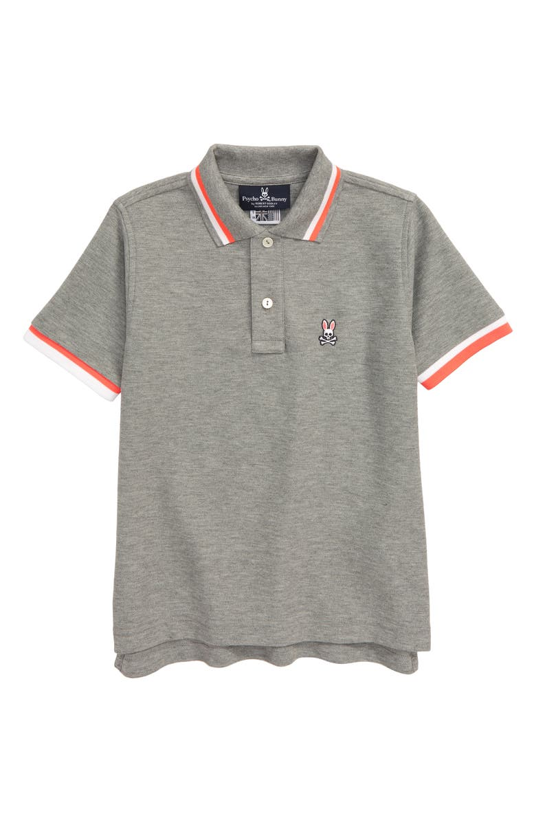 PSYCHO BUNNY Chestnut Polo, Main, color, HEATHER GREY