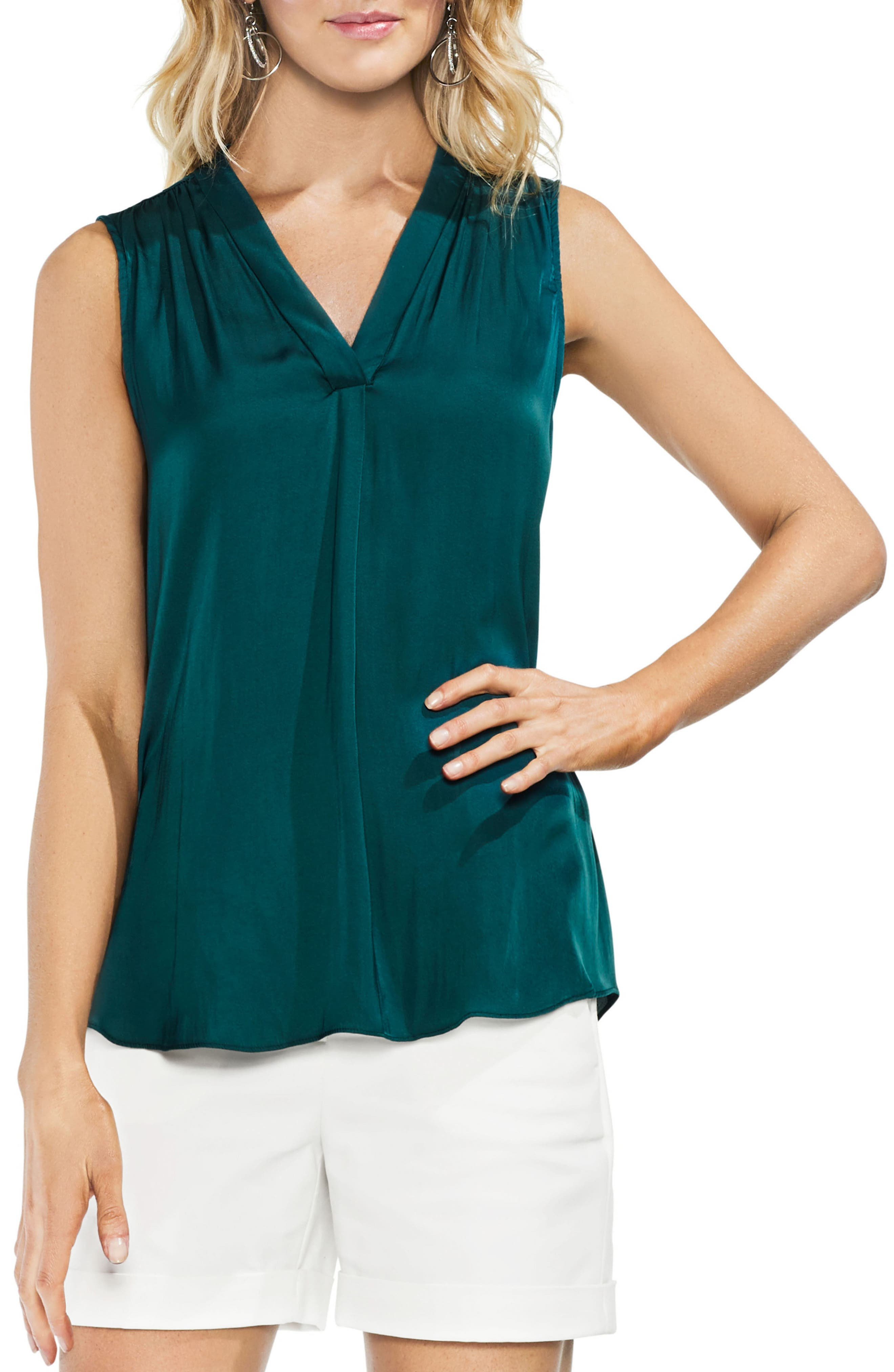 ,                             Rumpled Satin Blouse,                             Main thumbnail 139, color,                             305