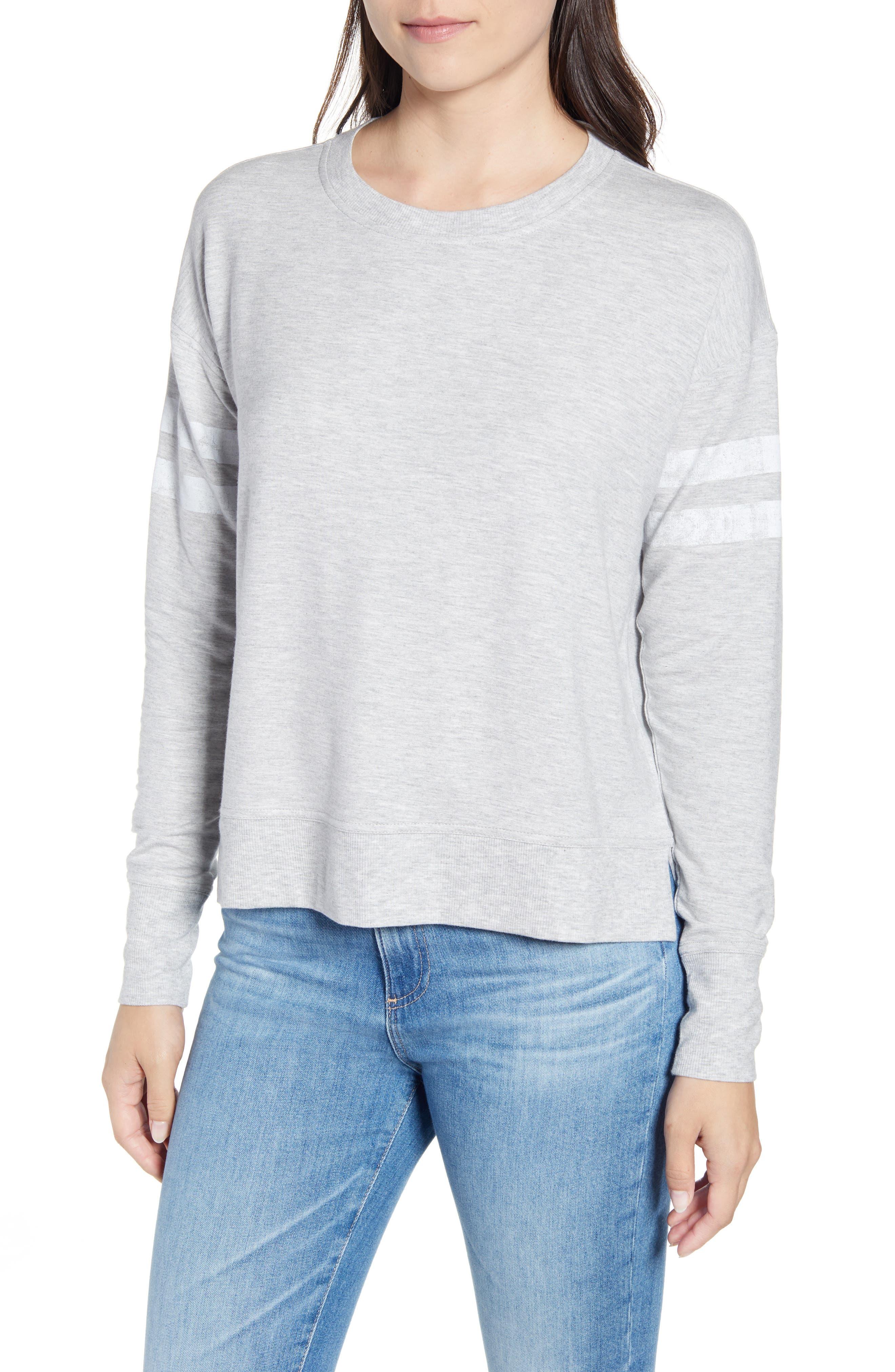 Vineyard Vines Varsity Stripe Sweatshirt, Grey