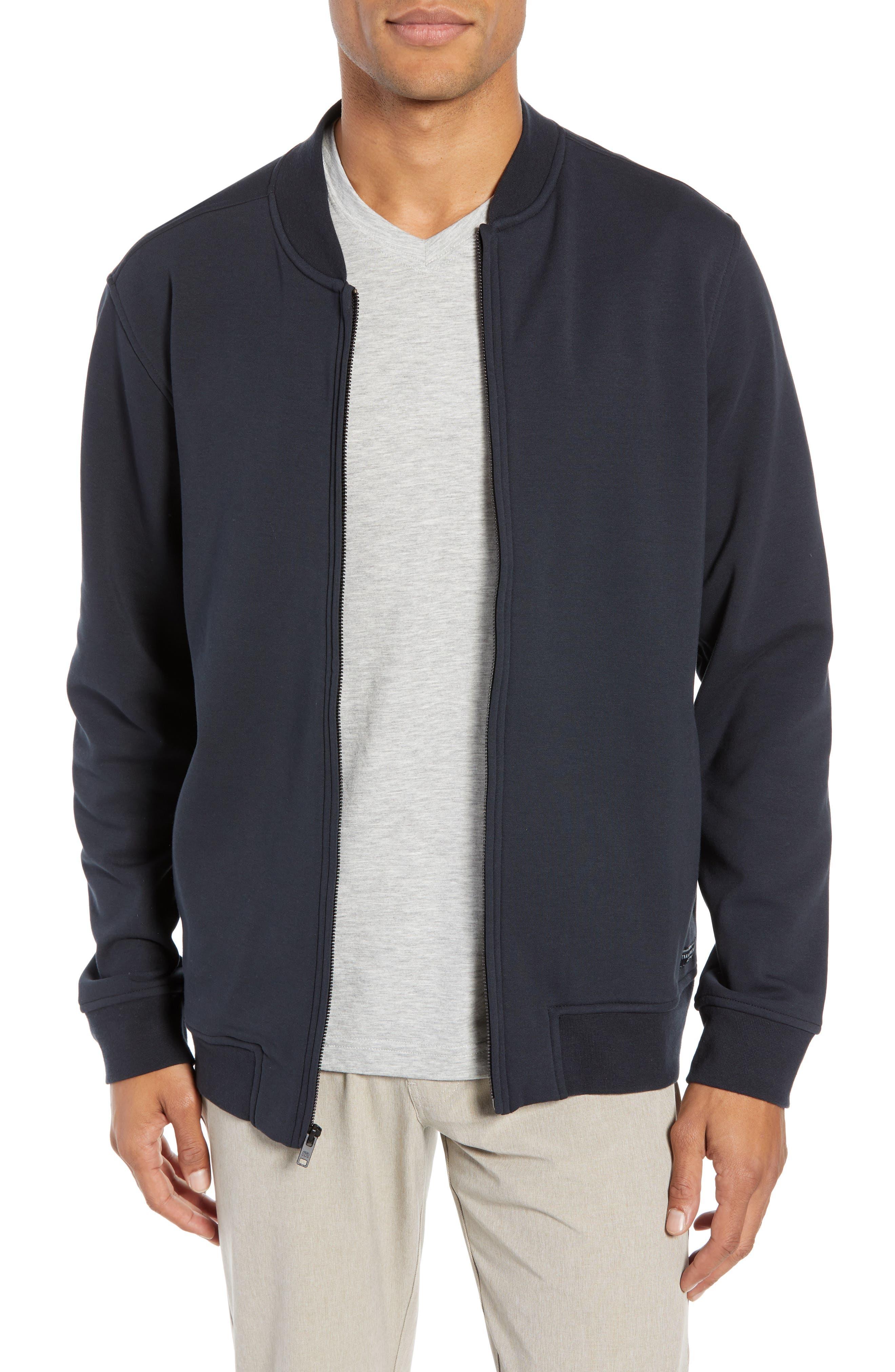,                             Cavalry Knit Bomber Jacket,                             Main thumbnail 1, color,                             BLACK