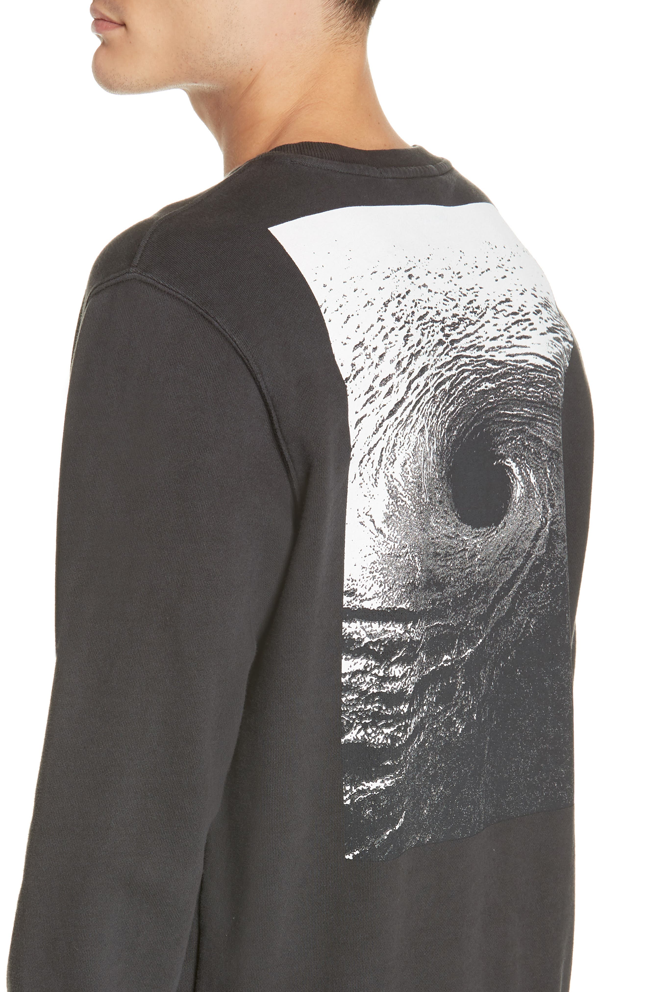 ,                             Whurld Order Graphic Sweatshirt,                             Alternate thumbnail 4, color,                             BACK TO BLACK